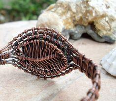 Bloodstone Woven Bracelet In Copper by EdisLittleTreasures on Etsy