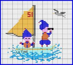 """La Lutine, avec ses petits marins très expérimentés, va bientôt arriver au port... Leur petit voilier porte le numéro 51... les plus anciennes d'entre nous se souviennent certainement de cette célèbre pub pour une boisson alcoolisée anisée :""""Heureux comme..."""