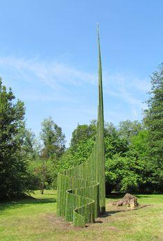 Humus Park Pordenone Italy, International Land Art meeting 2012. Danish artist Jørn Hansen