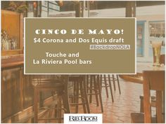 Happy Cinco de Mayo! Celebrate with $4 Corona and Dos Equis draft in our Touche and La Riviera Pool bars.  #BackdropNOLA  #cincodemayo #ribroom #ribroomnola #neworleans #nola #igers #igersnola #igersneworleans #fun #frenchquarter #bar #drinks #beer #beers #drinks by ribroom