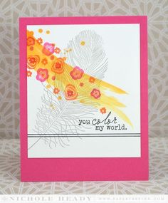 Color My World Card by Nichole Heady for Papertrey Ink (January 2014)