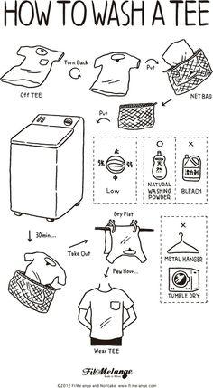 「のりたけ」氏 HOW TO WASH A TEE