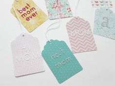 MOTHER'S DAY GLITTER GIFT TAGS