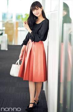 「オフィス スカート」の画像検索結果 Work Fashion, Skirt Fashion, Fashion Art, Fashion Dresses, Womens Fashion, Japanese Outfits, Japanese Fashion, Asian Beauty, Dress Skirt