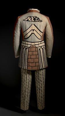 A costume designed by Giorgio de Chirico for the ballet Le Bal, Harlem Renaissance, Theatre Costumes, Ballet Costumes, Elsa Schiaparelli, Russian Ballet, Baroque Fashion, Ballet Books, Historical Clothing, Back To Black