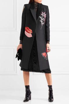 Alexander McQueen | Oversized silk-blend jacquard coat | NET-A-PORTER.COM