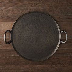 """Feast Platter - Iron - $50 - 15.75"""" dia. x 0.5""""H - These would be great for Paul + David's pizza station."""