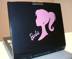 Laptop Decal Barbie and Signature Medium by FreshCutsbyLauriBeth, $7.95