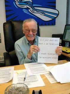 Stan Lee is gewoon de max.
