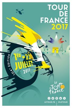 this is cool. TOUR DE FRANCE 2017 by Raphaël Teillet