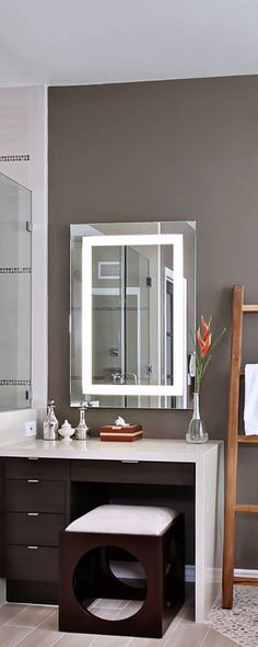This Bluetooth smart mirror does a lot more than just reflect back. It plays music, takes calls, shines LED lights, and even has anti-fog technology so it's always clear (even after a steamy shower). Bathroom Gadgets, Bathroom Ideas, Bath Ideas, Small Cooler, Mirror With Lights, Led Mirror, Home Automation, Smart Home, Minimalist Design