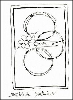 Sketch pour ma DT l' Antre Scrap Scrapbook Sketches, Card Sketches, Scrapbook Cards, Kirigami, Map Sketch, Card Making Templates, Card Making Techniques, Card Patterns, Cool Cards