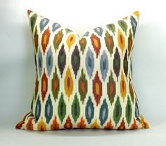Ikat pillow from Etsy