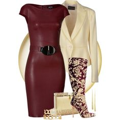 A fashion look from August 2014 featuring buckle dresses, multi pocket jacket and rounded toe boots. Browse and shop related looks. Fashion Images, Love Fashion, Winter Fashion, Fashion Looks, Womens Fashion, Classy Outfits, Chic Outfits, Fashion Outfits, Burgundy Outfit