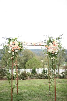 #Blush flowers on the pergola for ceremony ... Wedding ideas for brides & bridesmaids, grooms & groomsmen, parents & planners ... itunes.apple.com/... … plus how to organise an entire wedding, without overspending ♥ The