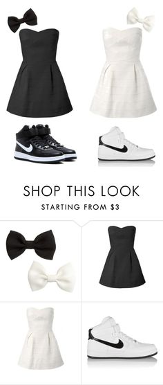 """Twins Style"" by kayla-santella ❤ liked on Polyvore featuring H&M and NIKE"