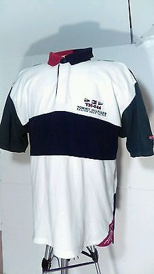 e7405c9a832 Vintage tommy hilfiger polo red/green/blue/white tommy sailing size large  90's