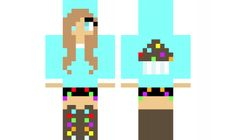 minecraft skin RainbowCupcake-Girl Find it with our new Android Minecraft Skins App: https://play.google.com/store/apps/details?id=the.gecko.girlskins