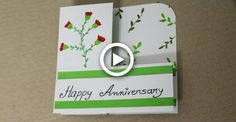DIY Anniversary Card for Parents - Handmade Cards for Anniversary Diy Gifts For Him, Diy Father's Day Gifts, Father's Day Diy, Diy Christmas Gifts For Kids, Diy Holiday Cards, Cards Diy, Diy Anniversary Cards For Parents, Father's Day Greeting Cards, Handmade Cards