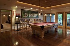 Awesome Finished Basements | Finished Basement Game Room Pool Table F Design Ideas, Pictures ...
