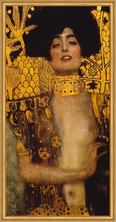 Gustav Klimt, Klimt Art, Famous Art Paintings, Popular Paintings, Klimt Judith, Judith And Holofernes, Oil Painting Reproductions, Classical Art, Art Plastique