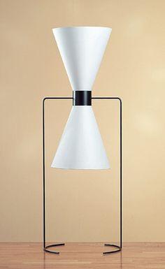"This sculptural Isamu Noguchi floor lamp designed in 1940 stands 46"" tall."