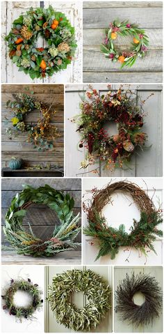 With a touch of charm and a wild, from-the-garden aesthetic, we rounded up these garden-inspired wreaths perfect for your décor from Thanksgiving to Christmas.