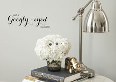 Simply Funny Halloween Decor - googly eyed hydrangeas. That makes me happy. :)