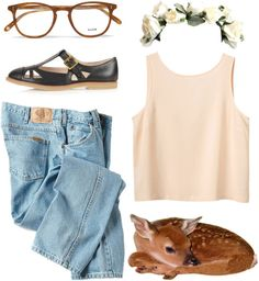 """deer me"" by lolsy ❤ liked on Polyvore"