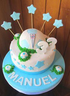 tortas deportes Universidad Catolica - torta futbol - torta pelota de futbol - torta cumpleaños deporte - tortas imagina