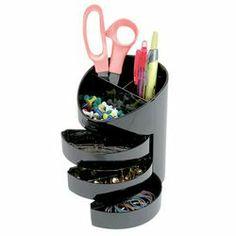 Product image for Eldon 3-Drawer Pen Holder Black