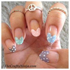 DIY Heart Tip Nails DIY Nails Art