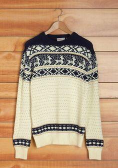 Vintage Be a Deer Men's Sweater, #ModCloth