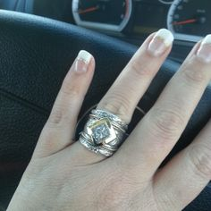 Another happy client showing off her new Susan Roos ring!