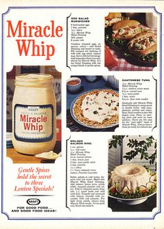 Miracle Whip Recipes - Ugh - too much mayonnaise.