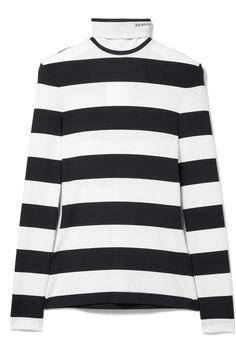 7c22a8f7b177e Calvin Klein 205w39nyc striped cotton turtleneck top Sport Chic