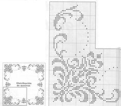 This Pin was discovered by Ban Cross Stitch Borders, Cross Stitch Baby, Cross Stitch Charts, Cross Stitching, Cross Stitch Patterns, Crochet Lace Edging, Crochet Borders, Filet Crochet Charts, Crochet Diagram