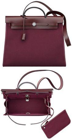 Brilliant Luxury by Emmy DE   Hermès  Herbag Zip  2015  burgundy   LeatherHandbagsEtsy. Stylish HandbagsFall HandbagsLeather ... 588f6ddaa708f
