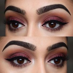 "BROWS: ABH Dipbrow pomades in ""Ebony"" and ""Dark Brown"" EYES: ABH Modern Renaissance Palette"