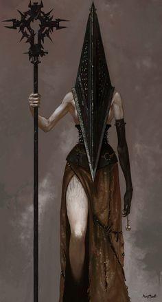 Pyramid Head Silent Hill – here Arte Horror, Horror Art, Dark Fantasy Art, Fantasy Artwork, Silent Hill Art, Pyramid Head, Dark Art Drawings, Illustration Art, Illustrations