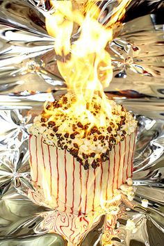 "Believing that the only ""real"" way to burn calories is to literally burn them, photographer Henry Hargreaves has done exactly that in his. Still Life Photography, Color Photography, Food Sculpture, Going For Gold, Low Fat Diets, Election Day, Light My Fire, Color Theory, Burn Calories"