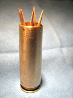 50 Caliber Brass Tooth Pick Holder by BulletsAntlersEtc on Etsy, $15.00