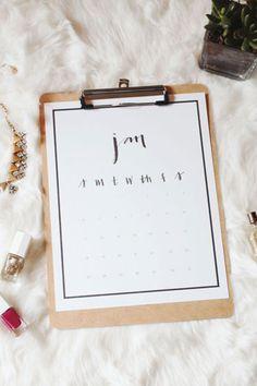 2015 Printable Desk Calendar