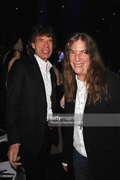 Mick Jagger and Patti Smith attends amfAR's Cinema Against AIDS 2010 benefit…