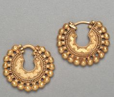 Ancient Art | Achaemenid Gold Earring Hoops - The Curator's Eye