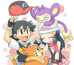 Ash, Dawn, Buizel, & Aipom photo Pokemon-AshDawn20.jpg