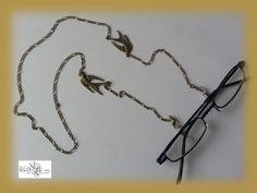#Brillenkette Schwalbe bronze von bigXel-#Naturschmuck und Wollkunst auf DaWanda.com