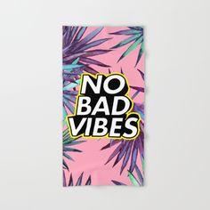 No Bad Vibes Hand & Bath Towel