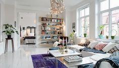 Zweeds huis vol verschillende stijlen #Swedish livingroom