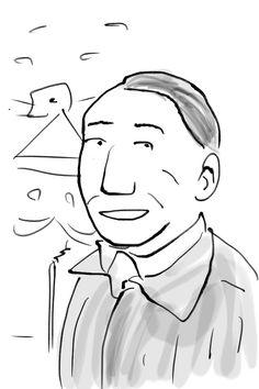"I sketched a man using iOS app""Zen Brush""."